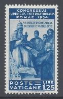 VATICANO 1935 CONGRESSO GIURIDICO Nº 46 - Neufs