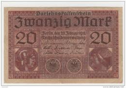 ALLEMAGNE Billet De 20 Zwanzig Mark - Berlin Février 1918 - [ 2] 1871-1918 : Empire Allemand