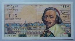 10 Nouveaux Francs Richelieu 15.10.1959 - 1959-1966 Franchi Nuovi