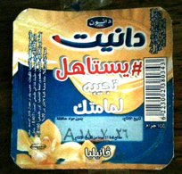 Egypt - Couvercle De Vanilia  Danone Dannite Vanilia Arabic (foil) (Egypte) (Egitto) (Ägypten) (Egipto) (Egypten) Africa - Milk Tops (Milk Lids)