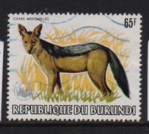 Burundi 1983, Wild Dog, Overprint, Minr 1605, Vfu. Cv 110 Euro - Burundi