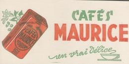 BUVARD  - Blotter -   Café Maurice - TOULON - Buvards, Protège-cahiers Illustrés