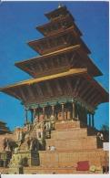 Nepal Nyatapola Temple Bhaktapur Circulated Postcard - Nepal