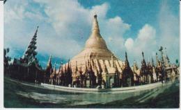 Myanmar Burma The Shwedagon Pagoda Lens Uncirculated Postcard - Myanmar (Burma)