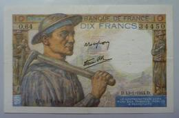 10 Francs Mineur   13.1.1944 - 1871-1952 Anciens Francs Circulés Au XXème