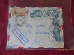 Lettre Du Cameroun (Abong Mbang) En Date Du 19 Janvier 1954. - Cameroun (1915-1959)