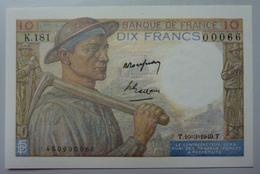 10 Francs Mineur   10.3.1949 - 1871-1952 Anciens Francs Circulés Au XXème
