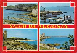 SIRACUSA - Saluti Da Augusta - 4 Vedute - Faro / Phare / Lighthouse / Leuctthurm - 1989 - Siracusa