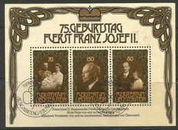 Liechtenstein - 1981 Franz Joseph II S/sheet CTO   Mi BL11  Sc 710 - Blocks & Sheetlets & Panes