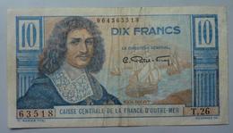 10 Francs Colbert 1946,  Caisse Centrale De La France D'Outre Mer - Autres