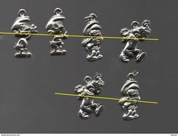 FEVES PLATE 2D SCHTROUMPFS..SMURFS..METAL ARGENTE - BD