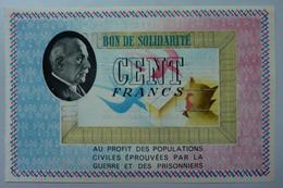 100 Francs : Bon De Solidarité - Bonds & Basic Needs