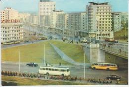 North Korea Pyongyang Bus Coach Uncirculated Postcard - Corée Du Nord