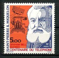 SPM MIQUELON  1976 PA N° 63 ** Neuf MNH Superbe C 13,20 € Graham Bell Première Liaison Téléphonique Communications - Luftpost