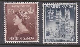 Samoa SG 229-230 1953 Coronation,mint Never Hinged - Samoa
