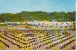 North Korea Pyongyang - Communist Propaganda - Demonstration, Festival, Dancers,  Uncirculated Postcard - Korea, North