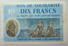 10 Francs 1941  : Bon De Solidarité - Bons & Nécessité