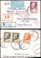 YUGOSLAVIA - JUGOSLAVIA - Expres Recomm. Airnail To Australia Cabramurra RETURNED - RRAE Franking Tito - 1969 - 1945-1992 République Fédérative Populaire De Yougoslavie