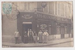 Bois Colombes, Carte-photo, Café Des Chambards - France