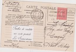 N°199 Timbre De Roulette /CP La Samaritaine - 1903-60 Sower - Ligned