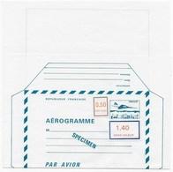 Cours D'instruction Aérogramme SPECIMEN - Cours D'Instruction