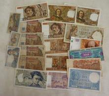 Lot N° 1  De 20 Billets Français - Monete & Banconote