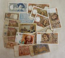 Lot N° 2   De 17 Billets Français - Monete & Banconote