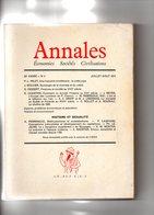Annales Economies Sociétés Civilisations 29e Année N° 4 Juillet Août 1974. - Histoire