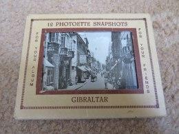 GIBRALTAR - 12 MINI SNAPSHOTS IN A FOLDER - Gibraltar