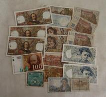 Lot N° 4   De 18 Billets Français - Monete & Banconote