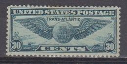 USA 1939 Trans Atlantic 30c * Mh (= Mint, Hinged) A Few Brown Spots Top Perf. (39993) - Air Mail