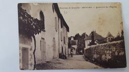 MEYLAN * ISERE - CPA ANIMEE - QUARTIER DE L EGLISE (ENVIRONS DE GRENOBLE ) - Autres Communes