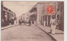 A Main Street View, St. Thomas, Danish West Indies - F.p. - Anni '1900 - Danimarca