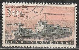 Cecoslovacchia 1960 River Dredge Boat - Navi - Usati