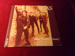 INXS  °°  WHAT YOU NEED  REMIX - 45 Rpm - Maxi-Single