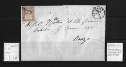 1854-1862 Sitzende Helvetia, Ungezähnt (Strubel)  ►22A3 Bironico Nach Ranzo (Strahlenstempel)◄ - Covers & Documents