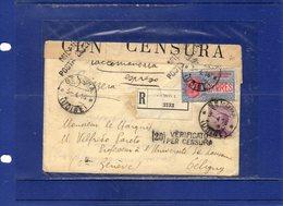 ##(ANT3)-1916-busta Raccomandata Espresso Da Gemona (Udine) Indirizzata Al Celebre  VILFREDO PARETO,Ingegnere,Matematico - Sciences