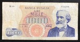 1000 Lire Verdi I° Tipo 20 05 1966  LOTTO 2179 - [ 2] 1946-… : Républic