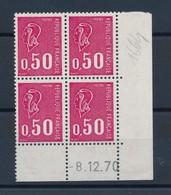 FRANCE - COIN DATE DU 8/12/1970 N°YT 1664 NEUF** SANS CHARNIERE - COTE YT : 2€ - Hoekdatums