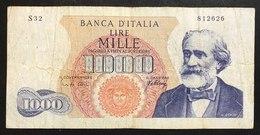 1000 Lire Verdi I° Tipo 10 08 1965    LOTTO 2183 - [ 2] 1946-… : République