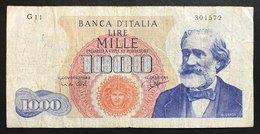 1000 LIRE VERDI I° TIPO 14 07 1962 LOTTO 2184 - [ 2] 1946-… : Repubblica