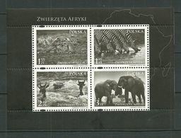 POLAND MNH ** 4151-4154 Faune D'afrique Guépard Zèbre Crocodile éléphant - 1944-.... Republik