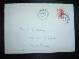 LETTRE TP LIBERTE DE GANDON 2,20 OBL.8-10 1986 21 LAMARCHE SUR SAONE COTE D'OR - Marcophilie (Lettres)