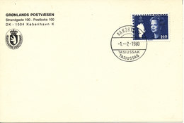 Greenland Card Nanortalik Tasiussaq 1-7-1980 - Greenland