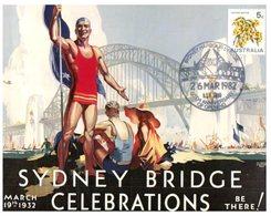 (110) Sydney Harbour Bridge Celebration (postcard) With Stamp And Special Postmark - Brücken