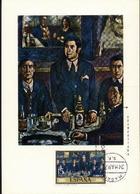 SOLANA - Le Reunion De Pombo / Biere,Vins,Verres-bouteil Les,Chope  Carte Maximum 1972  Espagne - Tarjetas Máxima