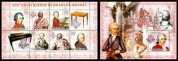 GUINEA BISSAU 2006 - W.A. Mozart, Masonry - YT 2238-41 + BF324 - Franc-Maçonnerie
