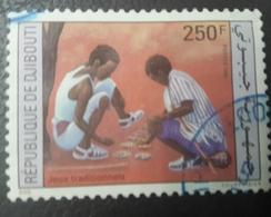 DJIBOUTI 1992 MICHEL MI 554  JEUX TRADITIONNELS TRADITIONAL GAMES - USED OBLITERE CANCELED OBL U O RARE - Djibouti (1977-...)