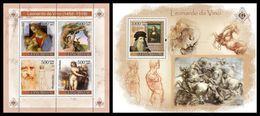 GUINEA BISSAU 2007 - Leonardo Da Vinci, Masonry - YT 2420-3 + BF369 - Franc-Maçonnerie
