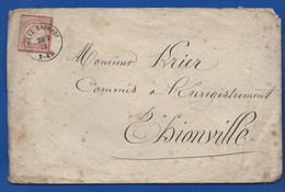 Enveloppe Affranchi à 1 Groschen   Oblitération:METZ BAHNHOF 26/2/1873 - Briefe U. Dokumente